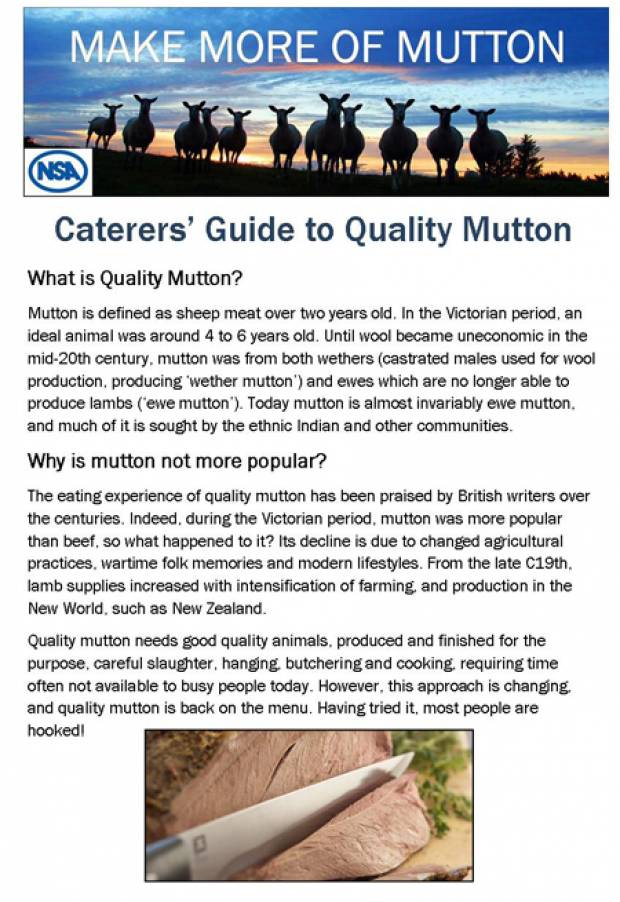 Caterers' Guide to Quality Mutton