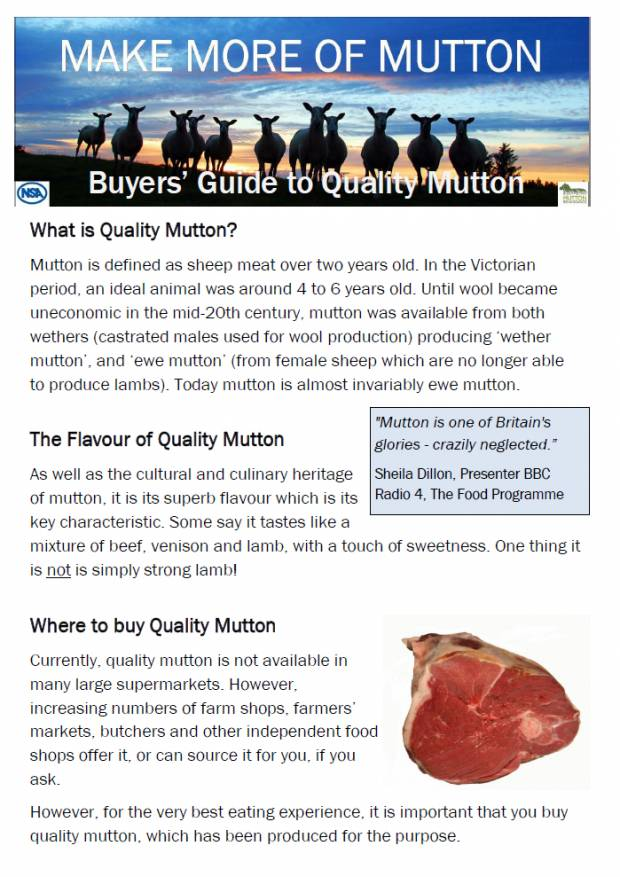 A5 Consumers Guide to Buying Quality Mutton