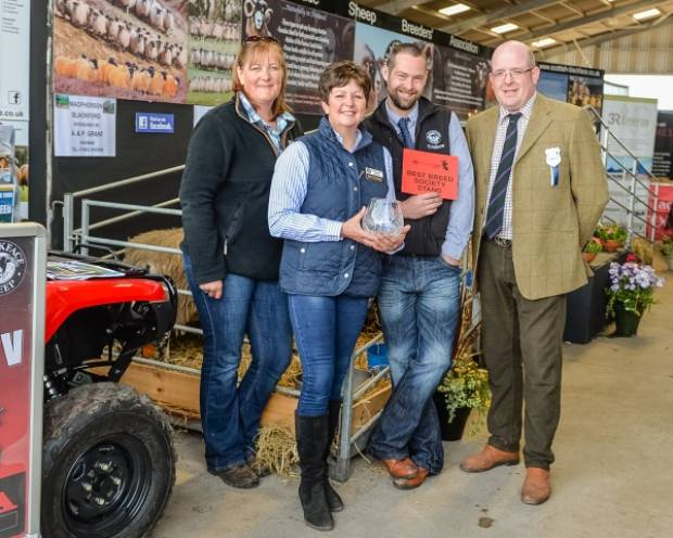 Repeating their success at the first Highland Sheep two years ago by  winning the award for the best breed society stand was the Blackface  Sheep Breeders Association represented by (l-r) Pamela Reid, breed  secretary, Aileen McFadzean, and Ben Reive and