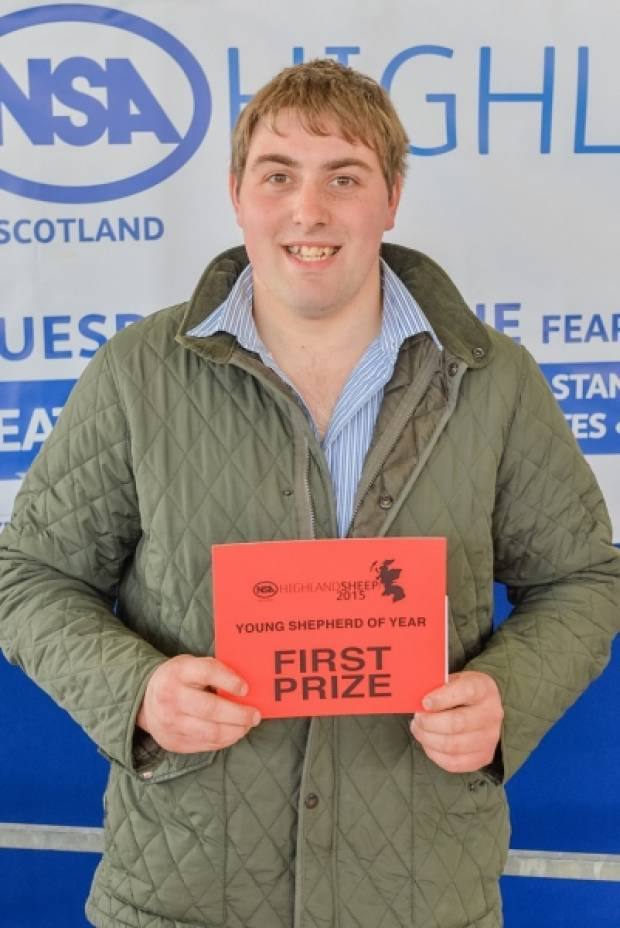 Aberdeenshire young farmer, John Brown, Hilton of Culsh, New Deer, came first in the Scottish Young Shepherd of the Year competition.