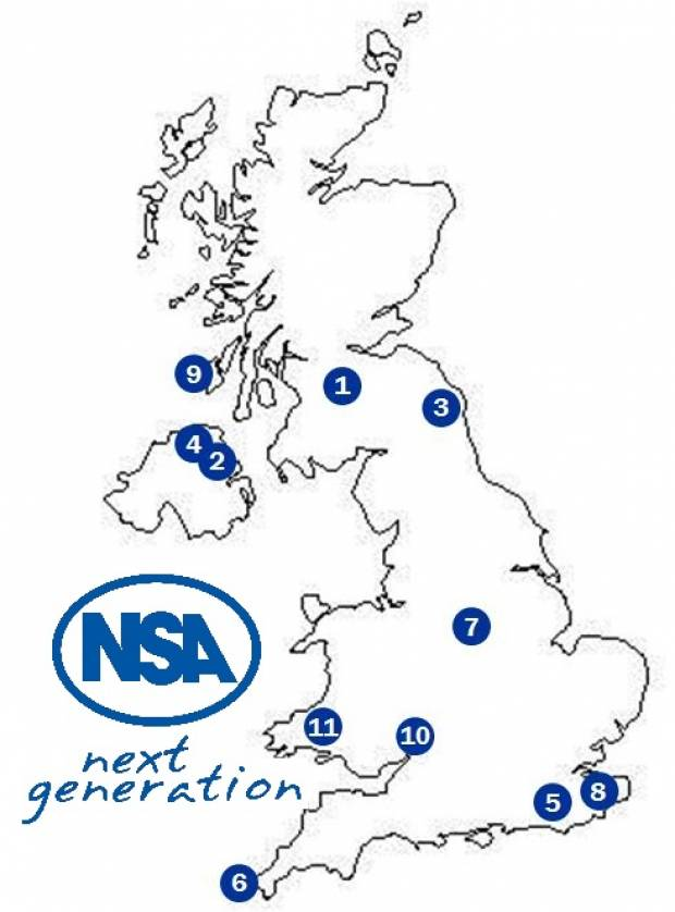 The NSA Next Generation Ambassadors come from across the UK