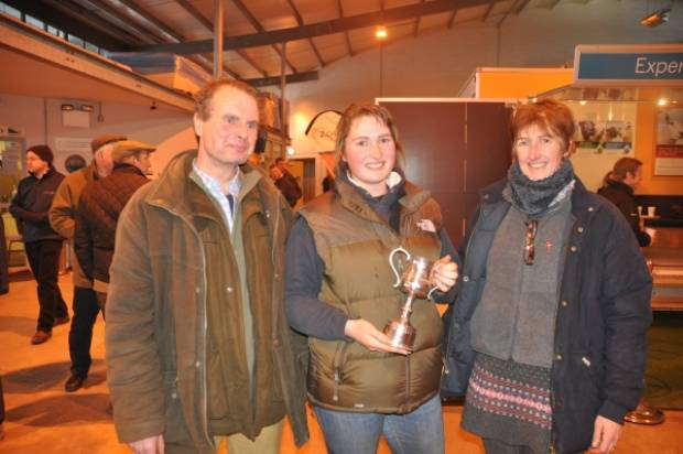 Winning Young Shepherd Ellen Helliwell with parents Robert and Sarah. For more pictures visit our Facebook page.