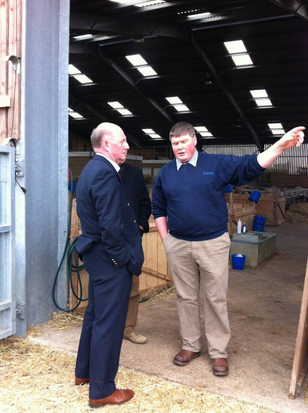 Dan Phipps highlighting issues to the Minister