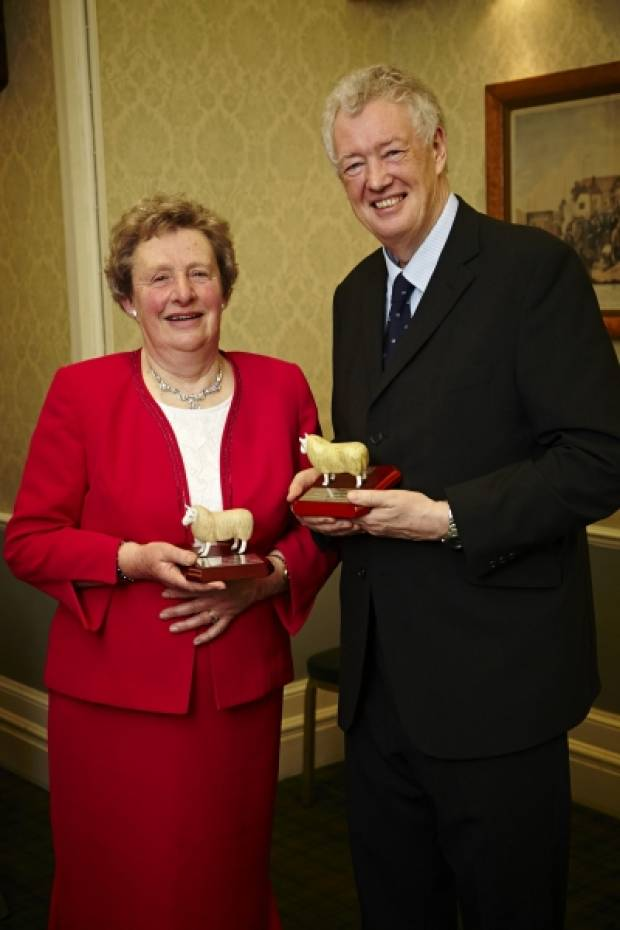 Margaret Dalton OBE and Dr John Vipond jointly recieve the NSA's George Hedley memorial award