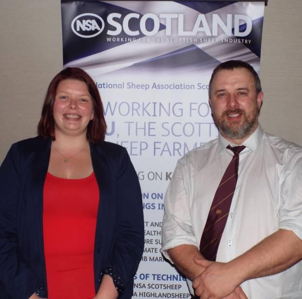 John Fyall and Jennifer Craig at the NSA Scottish Region ARMM.