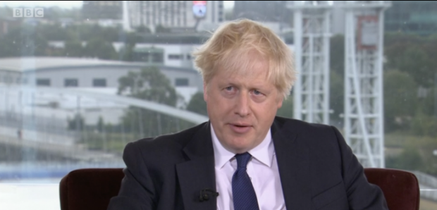 Prime Minister Boris Johnson made the comments on BBC's The Andrew Marr show