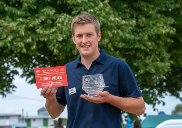 Top young shepherd from Lancashire takes £1,000 prize money in national final