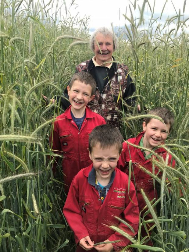 Margaret Dalton & grandsons.