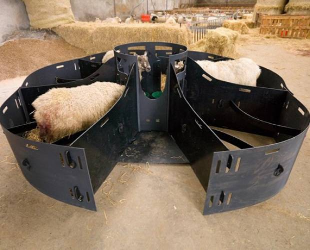 Solway Recycling six-bay easy-access lamb adopter
