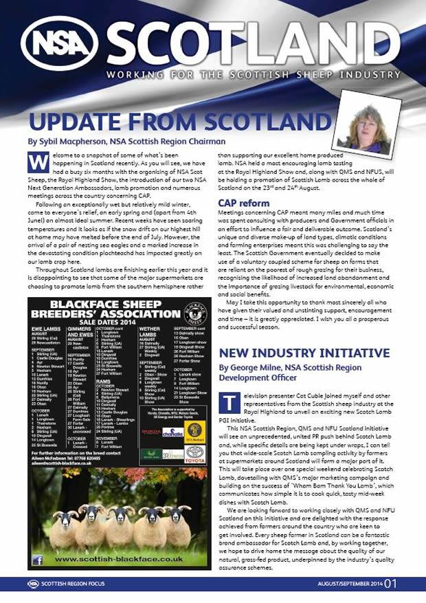 Read all about NSA Scottish Region's recent activity