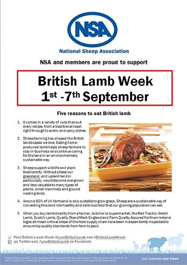 NSA supports positive 'eat more lamb' message