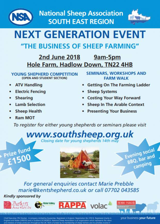 South East Region Next Generation Event Details
