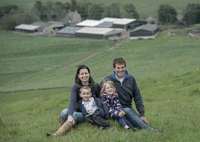 Robert & Hazel McNee with their young children Kate & Alan
