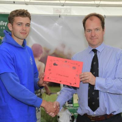 Will Hinton, one of the winners in the Shepherd of the Future Competition at NSA South Sheep 2014.