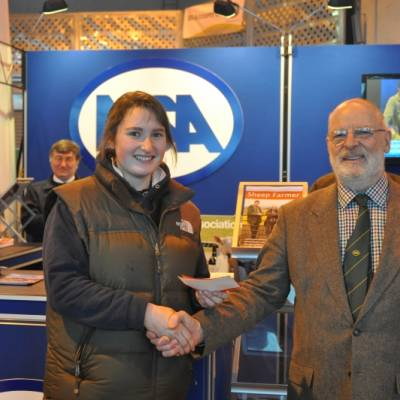Ellen Helliwell wins first prize in the Young Shepherds Competition at NSA Central Region Winter Fair 2013