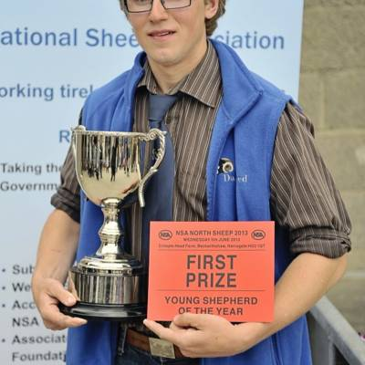 Josh Ryder wins the Young Shepherd Competition at NSA North Sheep 2013.