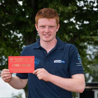 Highest placed 21 year old in the Young Shepherds final 2016: Iain Wilson, NSA Northern Ireland Region
