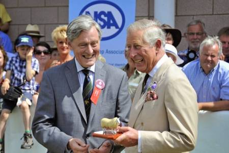 HRH The Prince of Wales collects 'Outstanding Service' award at Royal Welsh Show