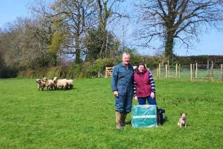 NSA membership provides welcome prize for Devon farming couple.