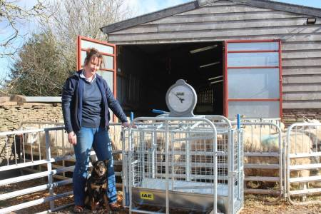 NSA IAE weigh crate giveaway 2017: Jenny Parry and Mike Smith