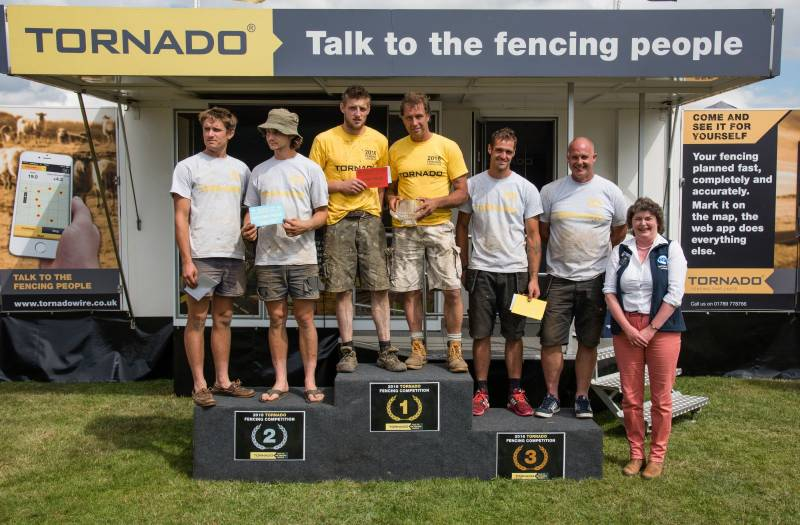 1st, 2nd and 3rd placed competitors in the Tornado wire fencing competition
