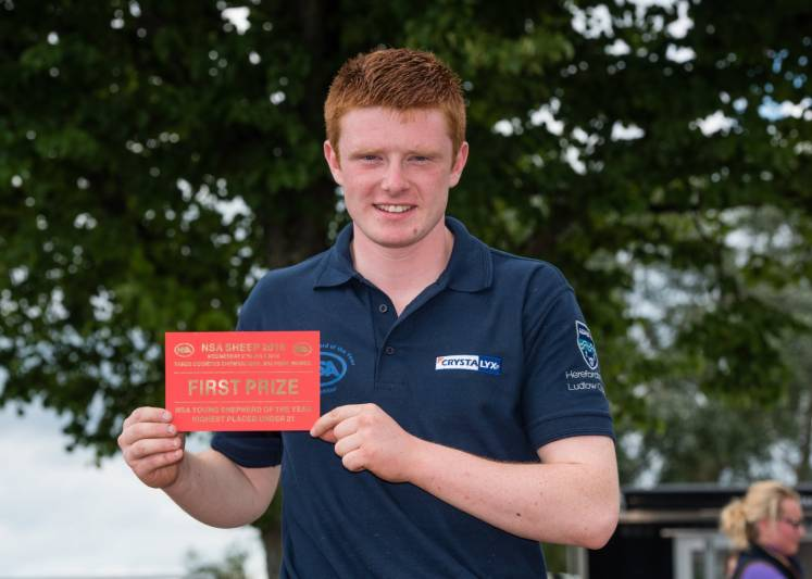 Young Shepherd of the Year - Higest Place Under 21 Iain Wilson