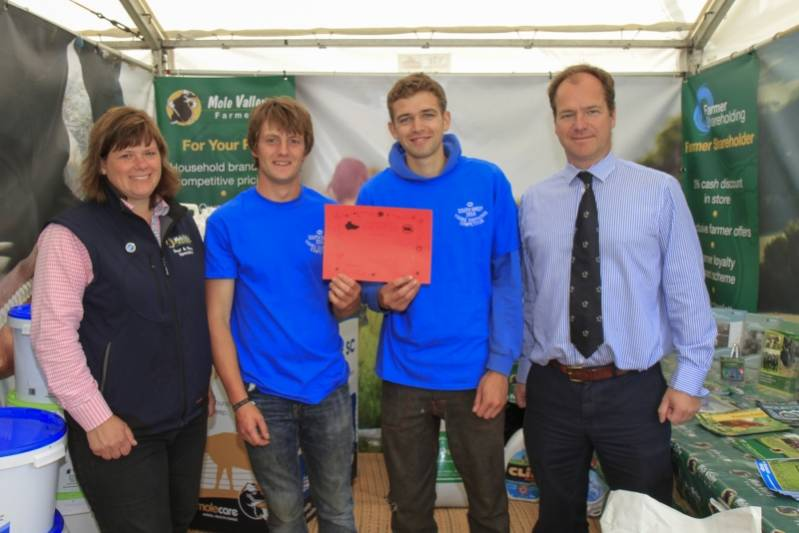 Alex Olphert and Will Hinton, joint winners of the Shepherd of the Future Competition receive their prize.