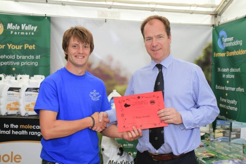 Alex Olphert, one of the winners in the Shepherd of the Future Competition, which was sponsored by Mole Valley Farmers.