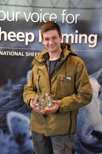 Tom Bird wins first prize in the Young Shepherd of the Year Competition at NSA Central Region Winter Fair 2015.