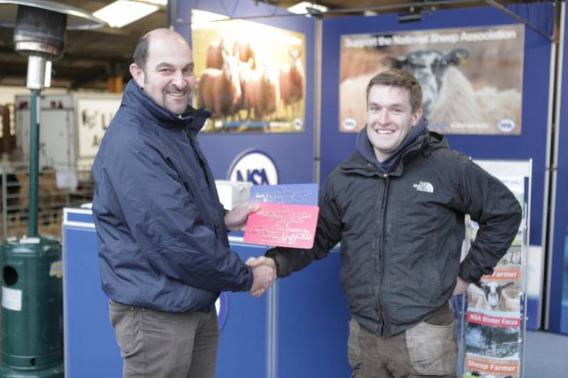 Fred Love gets 2nd place in the Young Shepherd's Competition and is the highest placed entrant aged 21 and under.