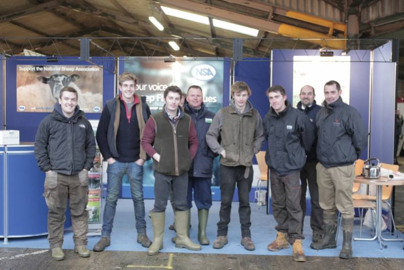 Entrant line up up for the Young Shepherd competition at NSA Eastern Region Winter Fair 2014.