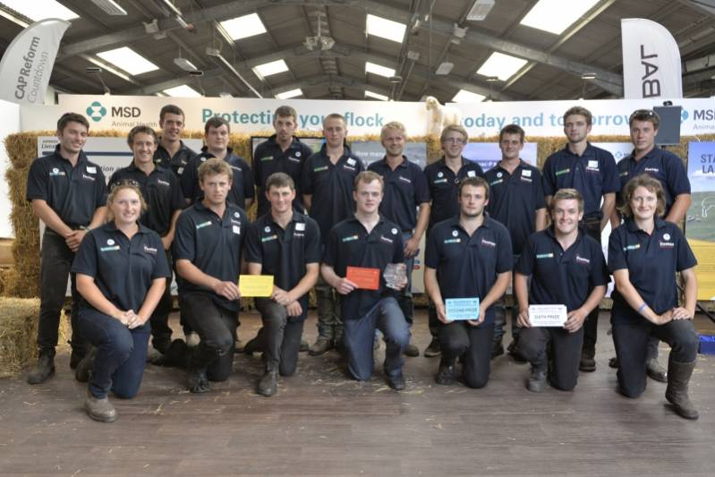 All the finalists in the Young Shepherd of the Year Competition at NSA Sheep Event 2014.