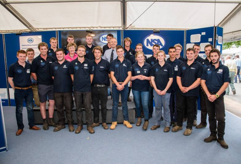 Competitors in the NSA Young Shepherd of the Year competition final at NSA Sheep 2016
