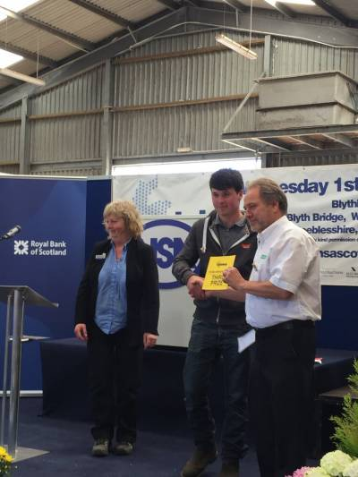 Billy Gray from Galston, Ayrshire came third (and was also the highest placed under 21) in the Young Shepherd of the Year competition at NSA Scot Sheep 2016.