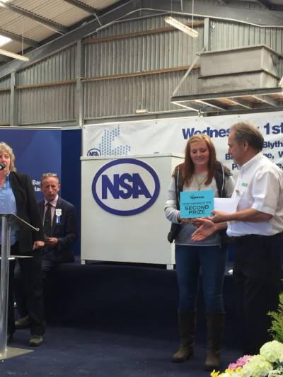Kelly Blackwood from Biggar, South Lanarkshire took second place in the Young Shepherd of the Year competition at NSA Scot Sheep 2016.