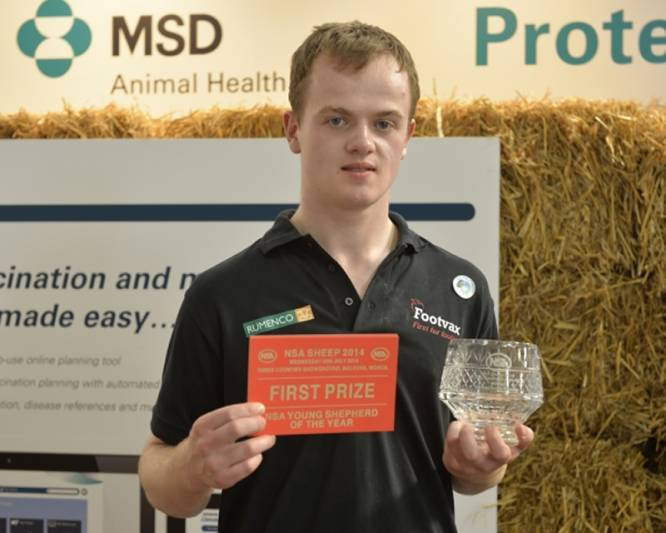 Euan Orr, winner of the NSA Young Shepherd of the Year National Final