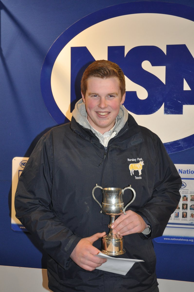 1st NSA Next Generation Shepherd competition winner, William Leese, Eccleshall, Staffordshire