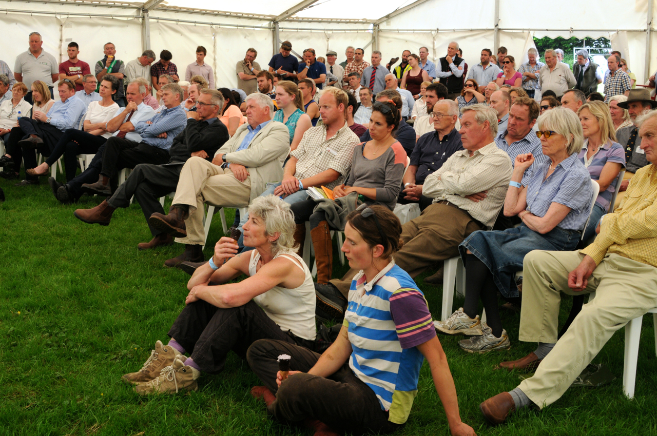 The seminar marquee was packed throughout the day, but particularly for the EU referendum debate.