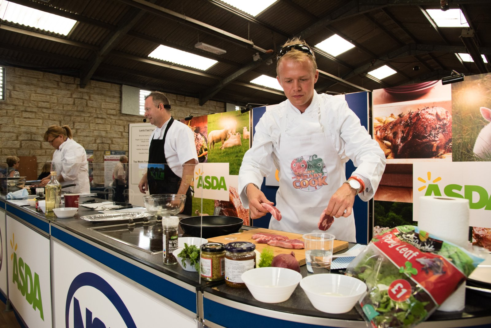 Competitors in the Ready Steady Cook competition
