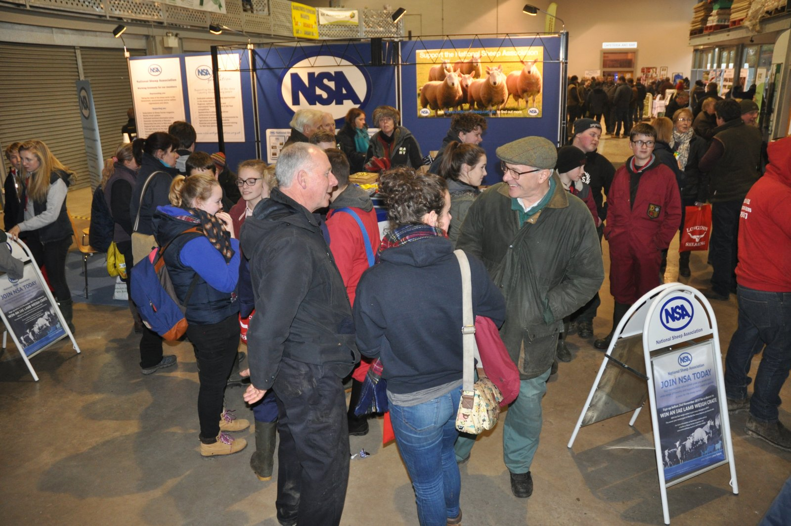 The NSA stand proved a hive of activity through the day