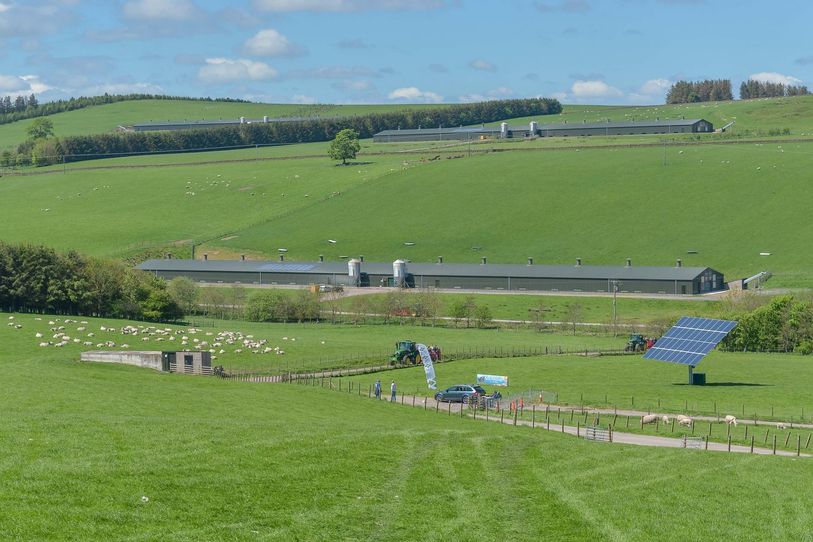 Some of the excellent views visitors were able to take in on the farm tour of Blythbank Farm, hosts of NSA Scot Sheep 2016.