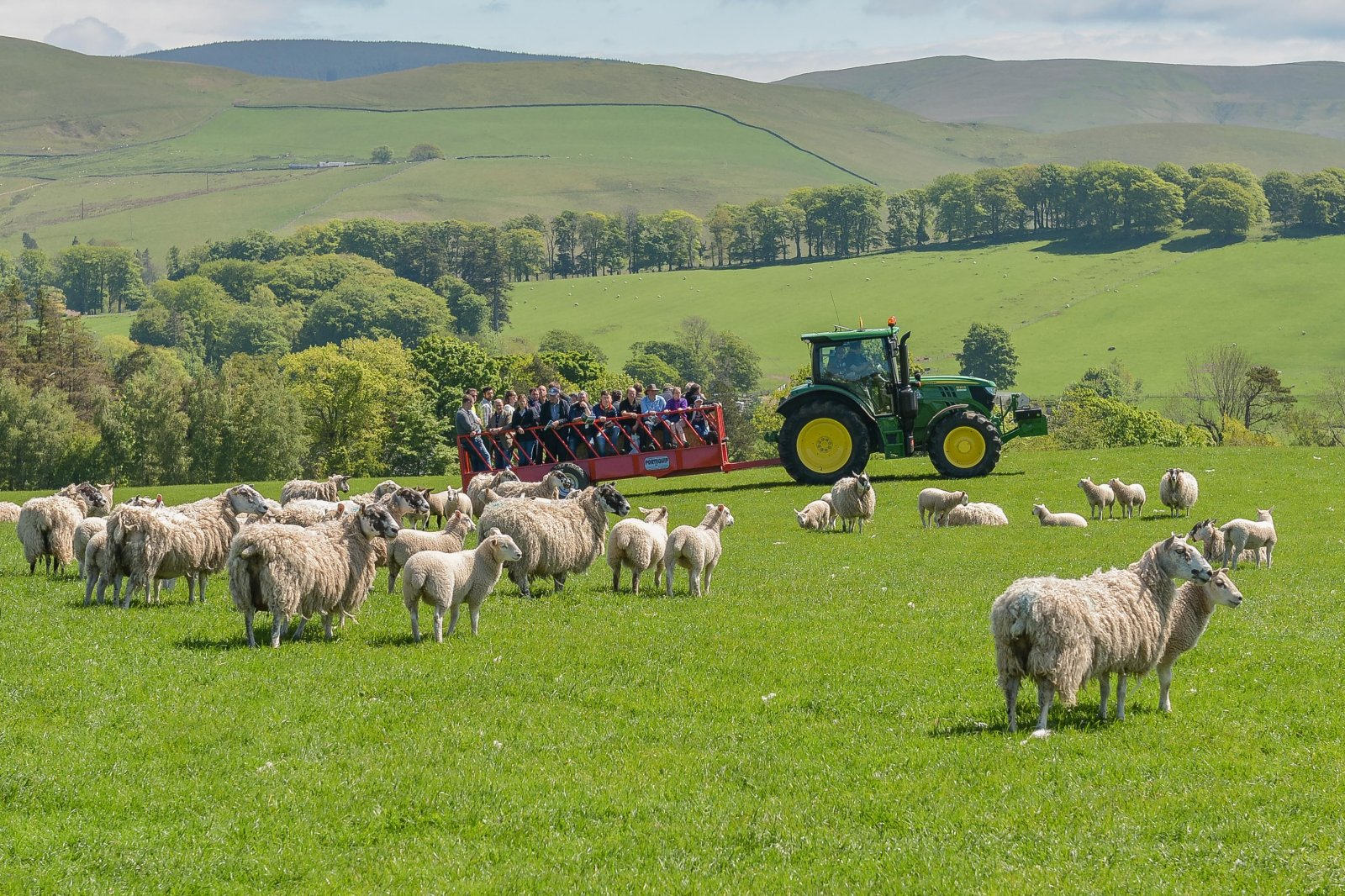 The farm tour took in just part of the huge Glenrath farming enterprise.