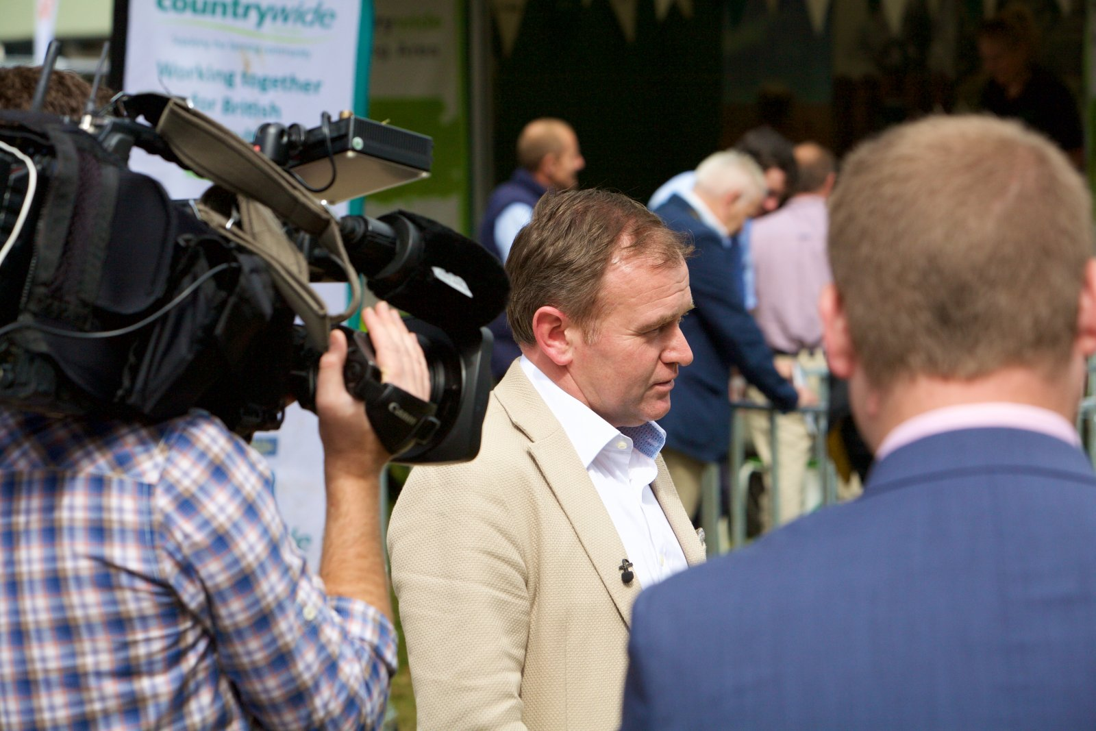 Farming minister George Eustice welcomed visitors to NSA Sheep 2016