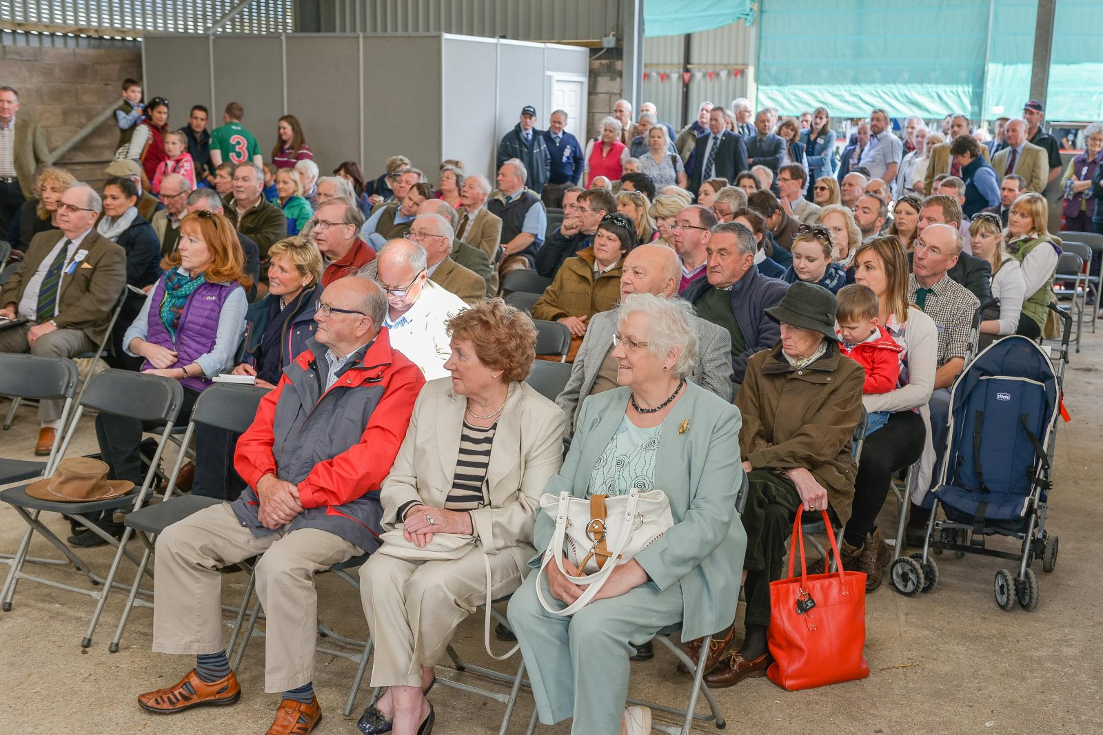Visitors enjoy the official opening, carried out by main sponsor the Royal Bank of Scotland Chief Executive Ross McEwan..
