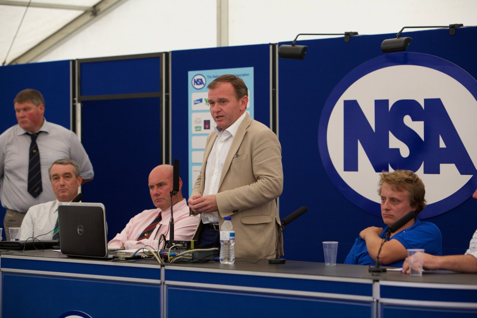 Farming minister George Eustice joined a panel discussion about the future of direct payments for farmers