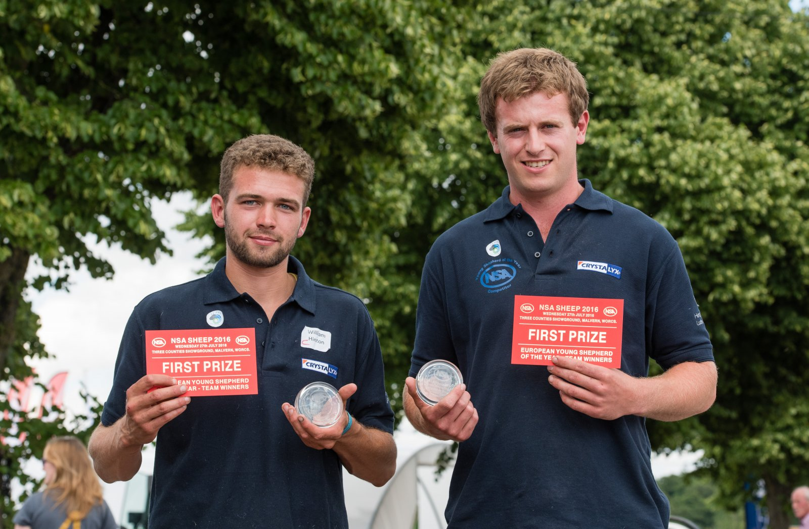 Young European Shepherd Winner Will Hinton (left) and Richard Carter